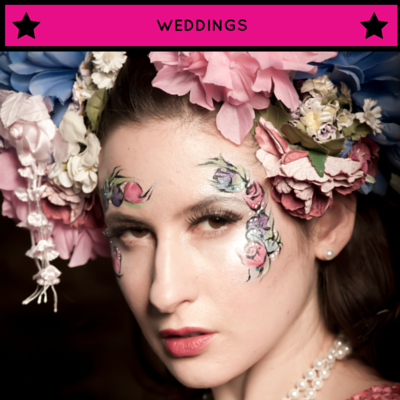 Face paint, weddings, events, kids, adults, makeup, glamour, glitter