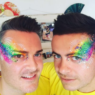 neon, face paint, rainbows, glitter, artist, professional, london, lgbt