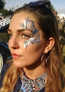 Glitter, glamour, festival, facepaint, creative, artistry, makeup
