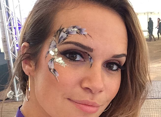 Weddings, evening, events, face paint, glitter, eye, makeup, corporate, parties, Glitter, flowers, floral, eye design, adult, facepaint, glamour, party,