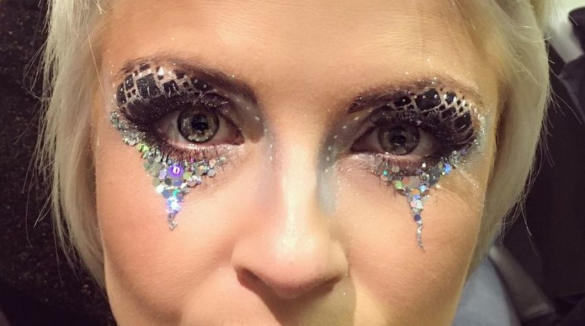 glitter, glamour, eye, design, adult, makeup, roaming, walkabout