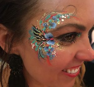 glitter, glamour, eye, design, adult, makeup, roaming, walkabout
